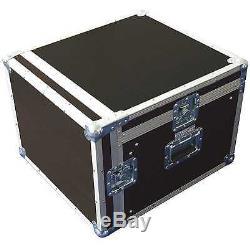 10/12 HE Winkelrack Kombicase L-Rack DJ-Case Doppel-CD-Player & Mixercase NEU