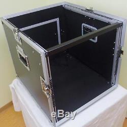 10/12U Universale Flight Case ECO DJ Workstation L-Rack Valigia Transporto Mixer