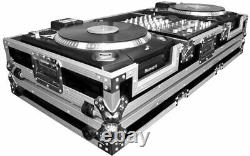 10 Mixer Coffin With Low Profile Wheels For 2 Numark CDX Or HDX Turntables