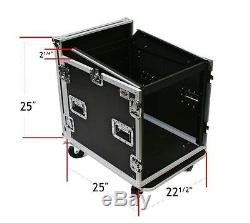 10 Space ATA DJ Road Case with 12u Mixer Top Rackmounts