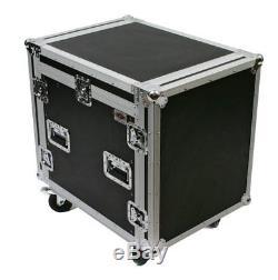 10 Space Mixer/Amp Rackmount Mobile DJ Portable Karaoke PA Sound System Case
