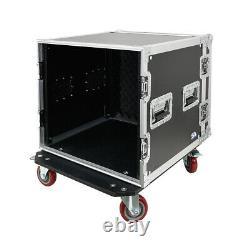 10 Space Pro Audio DJ Road Rack Case with Casters 10U Pro Tour Grade Case