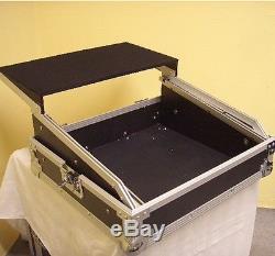 10HE 19 Mixercase 10 HE mit Laptopablage Notebookablage Mischpult-Case DJ-Rack