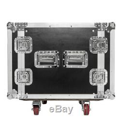 10U Professional 19 One Layer Double Door Space Rack Case DJ Equipment Cabinet