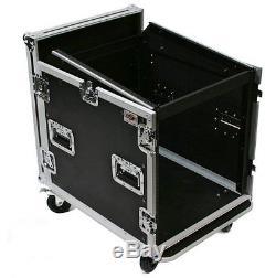 10u Mixer/Amp Mobile DJ Portable Karaoke PA Sound System Rackmount Case