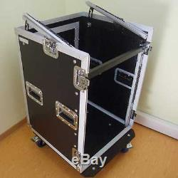 12/10 HE Kombicase FLEX Winkelrack L-Rack Doppel-CD-Player und Mixercase NEU