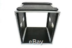 12 SPACE 18 DEEP CASE for RECORDING STUDIO RACK MOUNT EFFECTS AMPS with CASTERS
