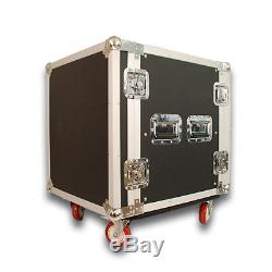 12 SPACE RACK CASE WITH 3U LOCKING DRAWER Amp Effect Mixer PA/DJ PRO CASTERS
