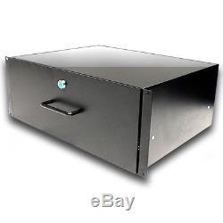 12 SPACE RACK CASE WITH 4U LOCKING DRAWER Amp Effect Mixer PA/DJ PRO CASTERS