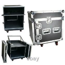 12 Space Rack with Case Slant Mixer Top DJ Mixer Cabinet for Audio Equipment