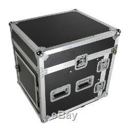 12U 12 Space Rack Case with Slant Mixer Top DJ Mixer Cabinet + 4Pcs Casters Test