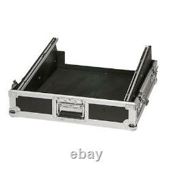 12U 19 Sloped Rack Mount Mixer Flight Case PA Band DJ Disco Console Controller