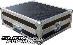 12U 19 Sloped Rack Mount Mixer Swan Flight Case (Hex)