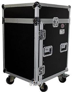 14U Rack X 10U Top Mixer DJ Combo Flight Case