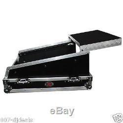 14U Top Flight Road hard case Allen & Heath QU-16 mixer Laptop shelf & wheels