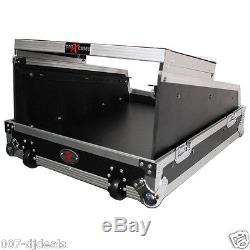 14U Top Flight Road hard case for Yamaha LS9-16 mixer Laptop shelf wheels Handle
