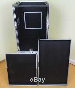 16/12 HE Winkelrack ECO CD-Player & Mixer-Rack Kombicase DJ-Workstation L-Rack