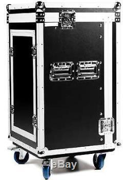 16 / 8 HE Winkelrack FLEX Kombicase L-Rack Flightcase Rack Kombi Case Mixercase