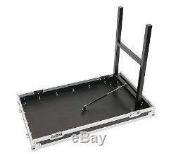 16 Space + 10u Mixer Top Work Station DJ Rack Road Case withWheels + Lid Tables