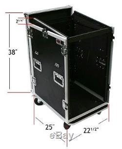 16 Space ATA Mixer Amp Rack Case with Top Mount by OSP 16U on side 12U on top