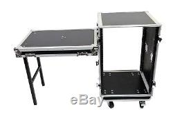 16 Space Amp ATA Rack Road Case with Lid Table by OSP