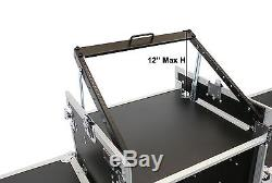 16 Space Amp Rack & 10 Space Top Mixer Rack Mount Road Case with 2 Lid Tables