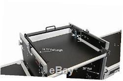 16 space ata mixer/amp rack case & table lids