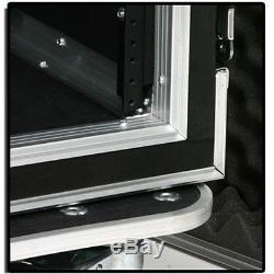 16u unit space amp effects processor ATA flight road case rack mount mixer table