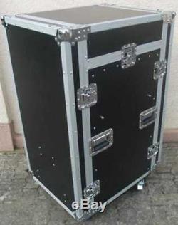 18 / 10 HE Spezial Stage Winkel Kombi Flight Case TD-3 TISCH DJ Rack mit Rollen