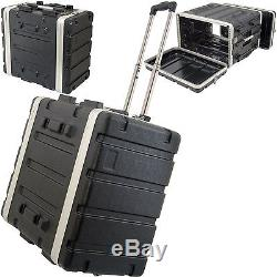 19 6U ABS Equipment Flight Case Trolley Mixer/Patch Panel Rack Storage Handle