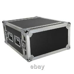 19 6U Space Rack Case Cabinet Studio Mixer DJ PA Cart Stand Music Gear Stage