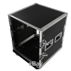 19Space Rack Case Double Door 12U DJ Mixer Equipment Cabinet forAudio Equipment