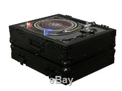 2 Odyssey FZ1200BL Technics 1200 Style Turntable Cases for Numark/Stanton Mixers