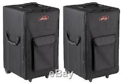 (2) SKB 1SKB-SCPM2 Rolling Powered Mixer/Speaker Cases with Wheels
