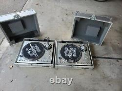 2 Stanton STR8-100 (w cases), Stanton RM-80 Mixer, Stageworks SW1600, 1 SKB Rack