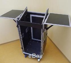 20/10HE Winkelrack TA-2 mit 2x Tisch Kombicase DJ-RACK Mixercase Workstation NEU