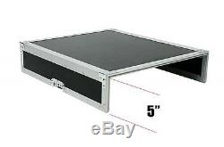 20 Space DJ Mixer Amp ATA Flight Road Rack Case/12u Top Mixer/Lid Table