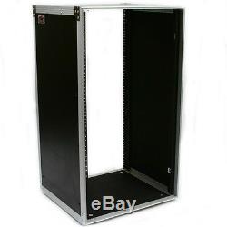 20u unit space deluxe studio mixer eq processor effects amp rack mount rail case