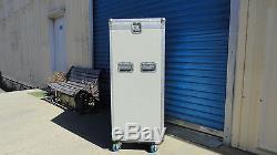23 & 12 Space Rack Mount Slanted Mixer & Amp Combo Ata Road Flight Case Console
