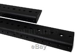 24 Space 24U (42) Steel Rack Mount Rail Pair Road Case Amp Mixer 10-32 Threaded
