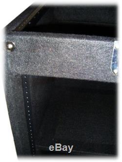 25U Rack Mount Studio Mixer Cabinet Road Case DJ Flight Stand Music Equipment
