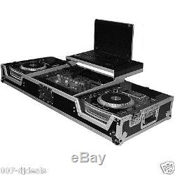 2x LARGE CD 19 10U RACKMOUNT MIXER GLIDE STYLE ROAD COFFIN FLIGHT READY CASE DJ