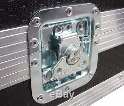 3U 2 Door 19 Rack Mount PC Amp Swan Flight Case (Hex)