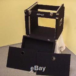 8/10 HE TXT-Kombicase DJ-Case Winkelrack L-Rack Doppel-CD-Player & Mixercase NEU