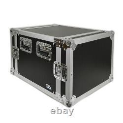 8 Space Pro Audio DJ Road Rack Case 8U Pro Tour Grade Case