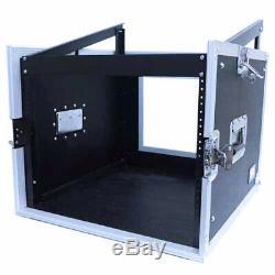 8 Space Rack Case with Slant Mixer Top Amp Effect PA/DJ Pro Audio Road Case