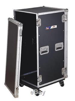 Audio Dynamics Pro 22u Amp Rack Case 24 Usable Depth Travel Dj Case Ar-22
