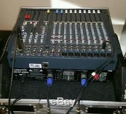 Allen & Heath Powered Mixer PA12-CP with Hard Road Case Rack Mount