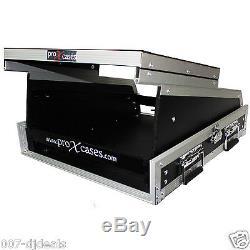 Allen & Heath QU-16 DJ Mixer Flight Case w Laptop Shelf 2U 13U Slanted Top