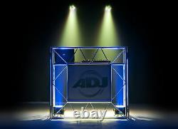 American DJ Pro Event Table II Foldable Portable Metal DJ Booth Truss Facade